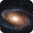 M81 (Bode's nebula) galaxy - With HAlpha data,                                Deddy Dayag
