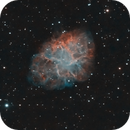 Crab Nebula (Dslr +20h exposures Ha/OIII/Infrared ),                                Gianluca Belgrado
