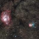 Trifid and Lagoon Nebulae,                                PapaMcEuin