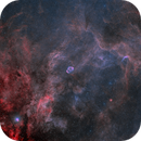 Crescent and Soap Bubble Nebula - wide field,                                Jarmo Ruuth