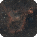 IC1805 / Heart Nebula and IC1795 / Fish Head Nebula,                                Mario Gromke