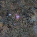 M-23 Open Cluster, M-20 Trifid Nebula , M-21 Open Cluster & M-8 Lagoon Nebula,                                Txema Asensio