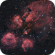 First try...Cats Paw Nebula - NGC 6334 - NB with QHY8L :-),                                Daniel Nobre