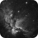 NGC 7380 The Wizzard Nebula in Ha,                                Marc Verhoeven