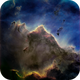 Nebular Mountain in IC2944, the Running Chicken,                                John Ebersole