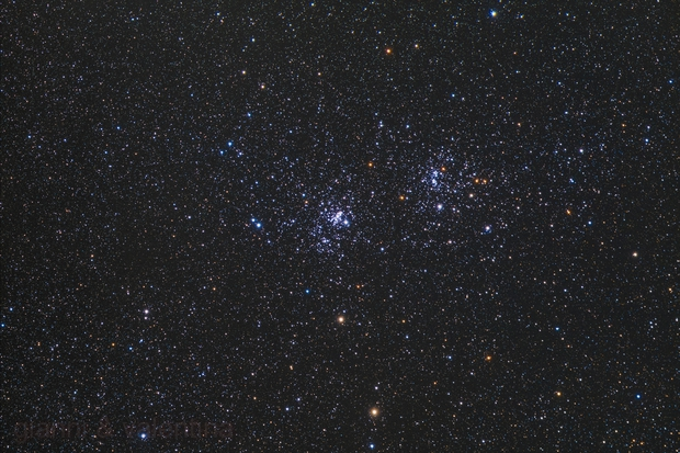 NGC869 & NGC884 commonly called: the Double Cluster of Perseus,                                Gianni Cerrato