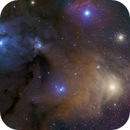Rho Ophiuchi Cloud Complex with POSS-II data added,                                Tom Masterson