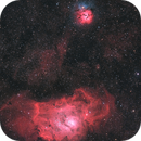 M8 and M20 - The Lagoon and Trifid Nebulae,                                Henrique Silva