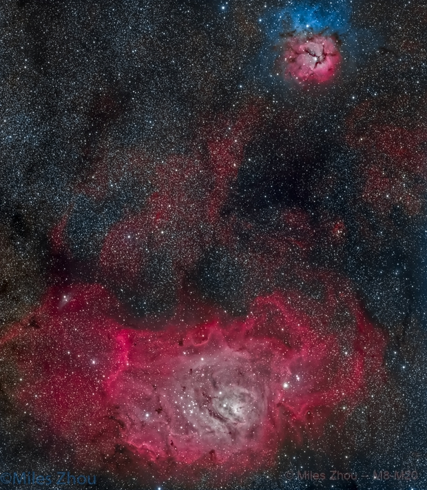 Messier 8 though Messier 20,                                Miles Zhou