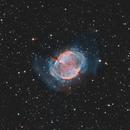 M27 - Dumbbell Nebula Ha+OIII Bicolor,                                Phil Brewer