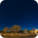 ISS passing over La Loire,                                David