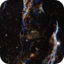 Western Veil Nebula, NGC 6960 Hubble Palette with NAOA Luminosity,                                Eric Coles (coles44)