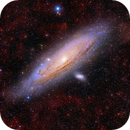 M31 bathing in ionised Hydrogen,                                Peter Shah