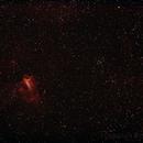 Messier M17 - NGC6618 Eagle or Swan Nebula & M18 - NGC6613 Open Cluster ,                                Geoff Scott