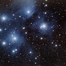 M45 Pleiades (Curved spider test),                                Ivan Nair