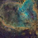 Heart Nebula (SH2-190) in SHO - Two Panel Mosaic,                                Cfosterstars