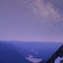 Milky Way over Baker Lake - Mt. Shuksan,                                dheilman