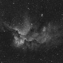 NGC 7380  - Sh2-142: The Wizard in Hα, 1200mm focal length,                                Uwe Deutermann