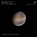 Mars animation 2016 07 10 & 11 from 23:43 to 00:39 UT,                                Almir Germano
