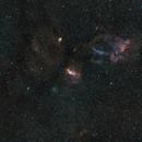 The Bubble Nebula, Lobster claw nebula, M52 star cluster, NGC7538 nebula SHO pallette,                                Dmitri Gostev