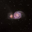M51 Whirlpool Galaxy LRGB, HA,                                Astrodane - Niels Haagh