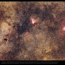 NGC6611-EagleNebula-NGC6605-NGC6616-M18-M24-NGC6603-IC4715-SagittariusStarCloudDelleCaustiche,                                Chris Alberts
