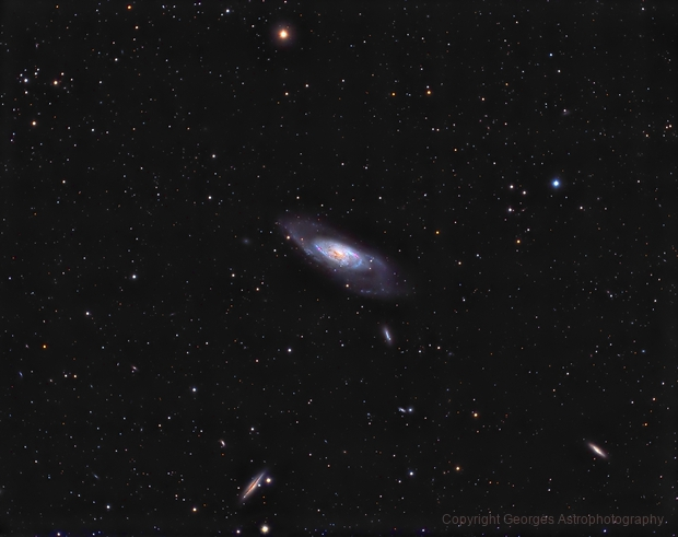 Messier106 and friends in HaLRVB,                                Georges