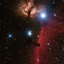 IC 434 - The Horsehead and Flame Nebula,                                Tim Ray