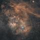 Sh2-115 und Abell 71 (PK85+4.1) - Sienna Version,                                pete_xl