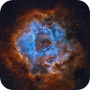 Rosette Nebula in Hubble color template,                                Wei Li