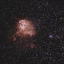 IC 2948/2944 Running Chicken Nebula & Thackeray's globules in Centaurus - LHaRGB,                                Ray Caro
