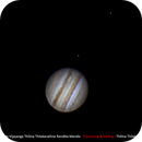 Jupiter and its moons, Europa and Io,                                City Observatory Colombo