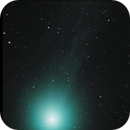 Comet Lovejoy 2014 Q2 video animation motion tracked from 22:13 PST 1/13/2015 - 01:22PST 1/14/2015,                                Tom Masterson