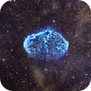 The Crescent Nebula NGC 6888 in SHO,                                Crazy Owl Photography