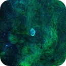 Crescentnebula wide Field Bicolor NB. HA, OIII  with Flare :-),                                Caspar Schumann