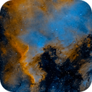 NGC7000 and synthetic Hubble Palette on OSC,                                minhlead