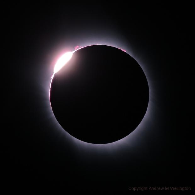Total Solar Eclipse - Grand Teton NP August 2017,                                Andy Wellington