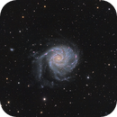 "M101 ""Pinwheel Galaxy"" LRGB-Ha,                                Jean-Baptiste Auroux"