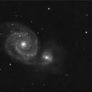 an old m51 of 2006 - C8 + FR 6,3 + Artemis Mono 285 bin 2 + Vixen GPDX,                                Stefano Ciapetti