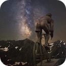 The cyclist Col du Tourmalet and MilkyWay,                                Maxime Tessier