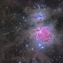 Orion Nebula M42 wide field,                                starhopper