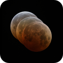 Lunar Eclipse - mid eclipse to third contact,                                Tony Cook