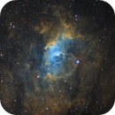 Bubble nebula in SHO - High resolution - Hubble comparison,                                Vincent F