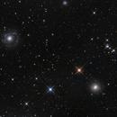 NGC 3642,NGC 3610. A disturbed SBc spiral and a  Elliptical shell galaxy...,                                Antonio F. Sánchez
