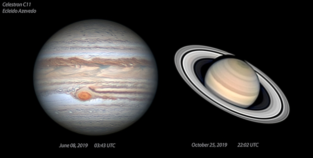 My best Jupiter and Saturn this season 2019,                                Ecleido  Azevedo