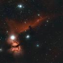 Horsehead and Flame Nebulas IC434,                                Stan Smith