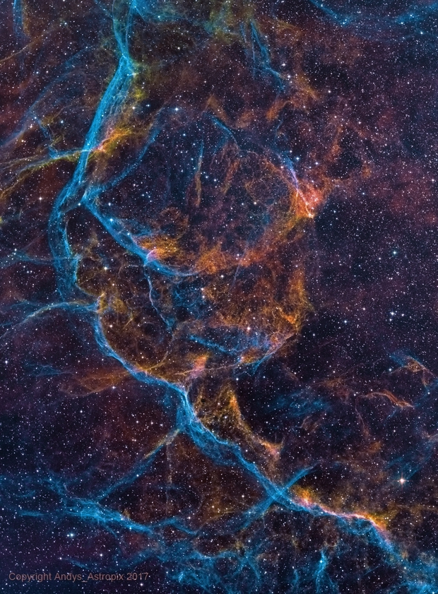The Heavenly Grail - Vela SNR in NB,                                Andy 01