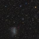 "NGC6822 - Barnard's Galaxy in Sagittarius (with smallish NGC6818 ""Little Gem"" planetary nebula),                                Stellario"