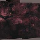 Colorized Mosaïc of 70 MPix in the Cygnus region,                                OrionRider