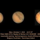 Mars in visual light,                                Dominique Callant